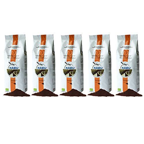 NABU Kaffee - Gourmet Kaffee Italienische Röstung gemahlen, 250 g, 5er Pack