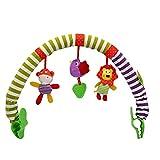 Runfon Cochecito De Bebé Play Arch Colgante Arco Iris con Clip De Felpa De Peluche De Peluche Sensor Sensor Travel Pram Actividad Bar Colgando Juguete Bebé Edredón De Bebé