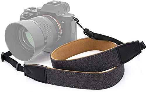 MyGadget Correa Universal para Camara Fotográfica - Bandolera Ajustable de Piel Sintética y Tela para Camaras Digitales Reflex Olympus Sony Nikon Canon