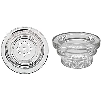 Glass Bowl YAREONE Silicone Bowl Replacement, Universal Glass Filters for Bowls (2 Pack)