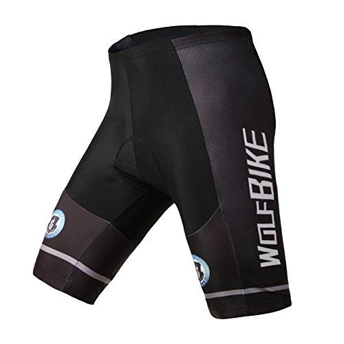 ParaCity Maillot de ciclismo de verano, unisex, softshell, pantalones cortos para bicicleta...