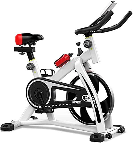 NBLD Bicicleta de Spinning Bicicleta estática para el hogar, Bicicleta estacionaria para Interiores con portabidón y Monitor Digital, Carga 200 kg