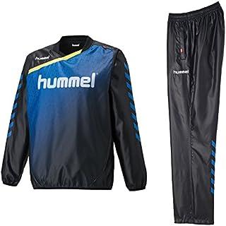 hummel(ヒュンメル) トライアルコート 上下セット 【メンズ】 (HAW4174/HAW5174) (S, ブラック×Rブルー(9063/9063))