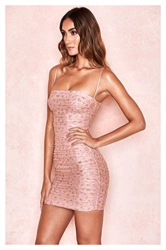 EDMONG Vestido Maxi Moda Vestidos Florales Vestido De Verano Dulce Y CUTESLE Vestido sin Problemas (Color : Pink, Size : XL)