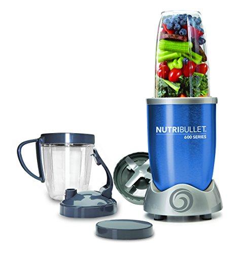 NutriBullet NBR-0928-B - Extractor de nutrientes original con recetario en Español, base motor de alta capacidad, 600 W, 20.000 rpm, incluye varios accesorios, color azul
