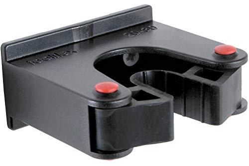 Toolflex Halterung, Stockhalter, Gerätehalter und Stielhalter, 20-30mm Durchmesser schwarz für Aluschiene oder Einzelmontage