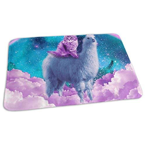 Kat Rijden Op Regenboog Llama in de ruimte veranderen Pad Waterdichte Zachte Baby veranderen Mat te veranderen Luier Matraskussen Cover voor Jongen en Meisje Pasgeboren (27.5