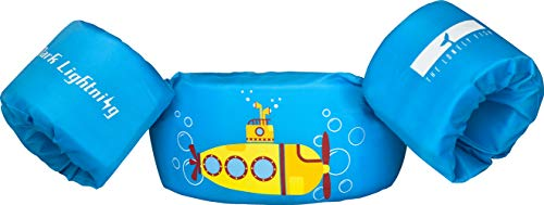 Dark Lightning Toddler Swim Vest, Best Baby Life Jacket for 30-50 Pounds, Kids Swimmies Floaties with Water Wings for Pool/Puddle/Beach, Play Like Jumper