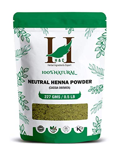 H&C 100% Pure Natural Organically Grown Neutral Henna Powder / Colorless Henna / Senna Powder / Cassia Obovata (227g /...
