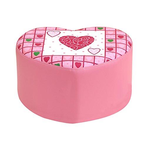 Banc de chaussure de pêche de coeur pour enfants rose princesse tabouret doux petit canapé tabouret 42 * 37 * 25cm