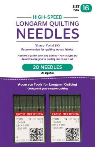 Handi Quilter Longarm Quilting Needles - High-Speed Sharp Point (R) Size 16 (Pack of 20)