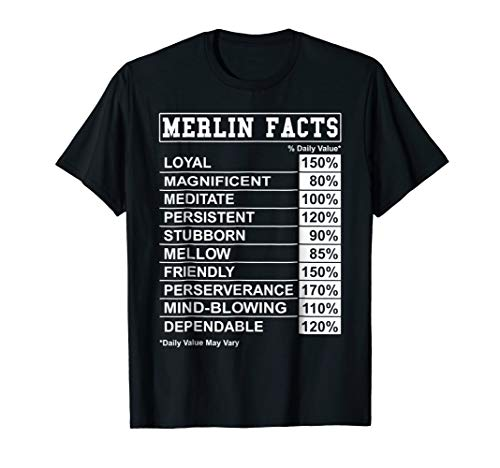 Merlin Facts T Shirt for Merlin with Funny Facts