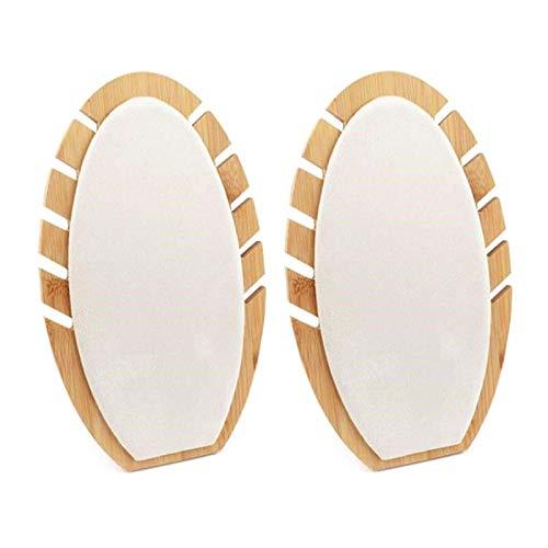 Soporte para collar de mesa Collar de bambú natural Soporte de exhibición de caballete Soporte de exhibición de collar de busto de collar múltiple Soporte de exhibición de joyería de madera para