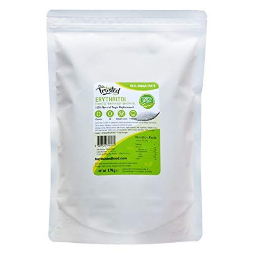 BTF Eritritolo 1kg 2kg - ZERO Calorie 100% zucchero naturale di ricambio (2kg (1.9kg NET))