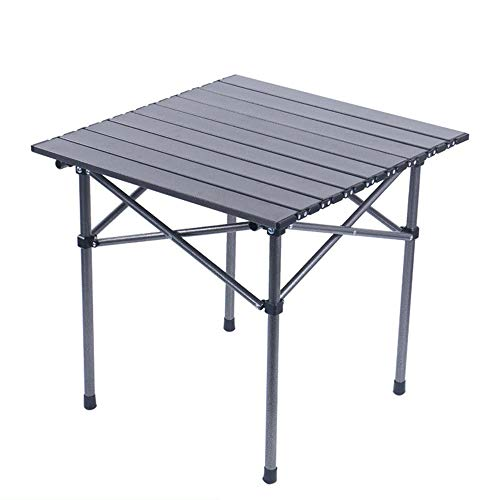 Folding table Mesa Plegable para Exteriores, Mesa Plegable de Aluminio portátil, Mesa de Picnic para Acampar Resistente, Mesa Plegable multifunción con Bolsa de Almacenamiento