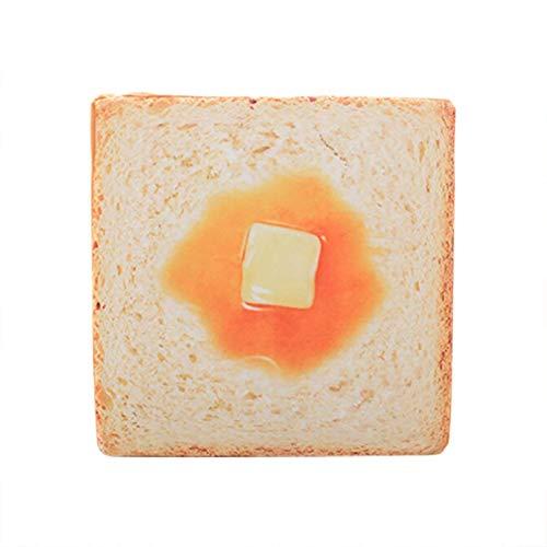 Shushi Platz Lendenkissen, Kreativer Toast Brot-Scheibe Kissen, Sitzkissen Sitzkissen-weiche Sofa Office Home Auto-Stuhl-Rückenstütze Shushi (Color : C, Size : 80cm)