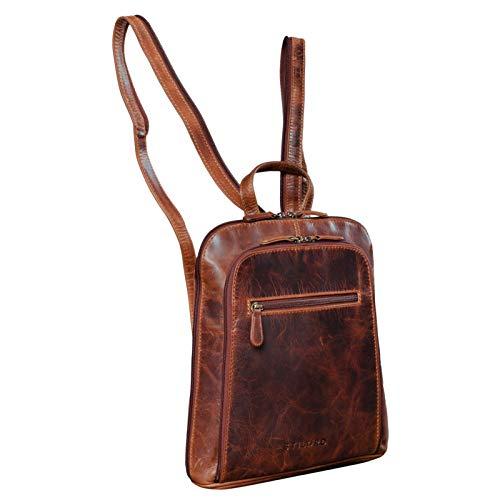STILORD 'Talisa' Kleiner Leder Rucksack Damen Vintage Rucksackhandtasche Lederrucksack...