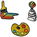 LiBao-TaoYao Broche de aleación de esmalte de 3 estilos,Rainbow Brush Pintura Placa Pins DIY Artesanía,Regalos para Tourism Souvenirs Ferias Comerciales Promociones de publicidad