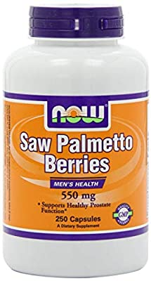 NOW Foods Saw Palmetto Berry 550mg, Pack of 2 250 Capsules