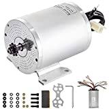 BestEquip 1500W 48V Electric Brushless DC Motor 3750RPM Brushless Motor with Speed Controller and Mounting Bracket for Go Karts E-Bike Electric Throttle Motorcycle Scooter and More