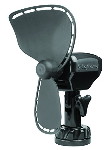 Caframo Ultimate. 12V Lighter Plug Fan for Boats and Campers. Easy to Clean. Black
