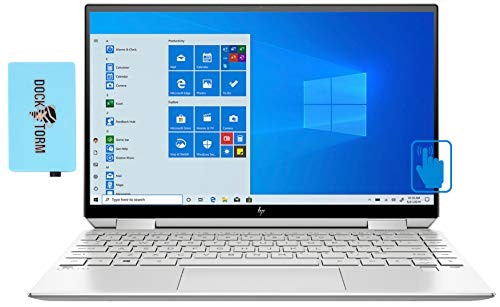HP Spectre x360 13aw Home and Business Laptop (Intel i5-1035G4 4-Core, 8GB RAM, 1TB PCIe SSD, Intel Iris Plus, 13.3' Touch 4K UHD (3840x2160), Active Pen, Fingerprint, WiFi, Win 10 Pro) with Hub