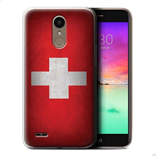 Stuff4® Gel TPU hoes/case voor LG K10 2017/M250N/X400/Zwitserze/Zwitsers patroon/vlag collectie