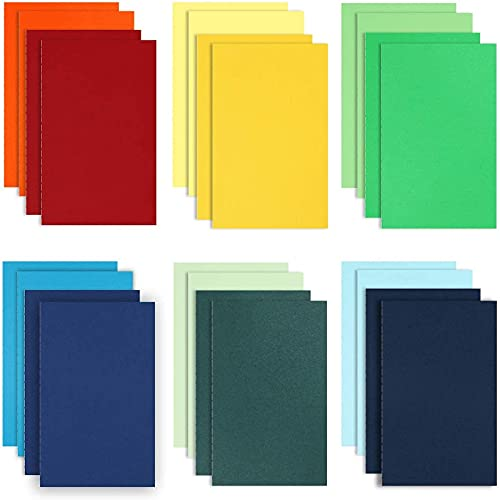 EOOUT 24pcs A5 Colored Journals Notebooks Bulk, Ruled Lined Journal, Soft Cover, 5.5' x 8.5' Inch, 60Pages, for Kids, Office Supplies, School Supplies