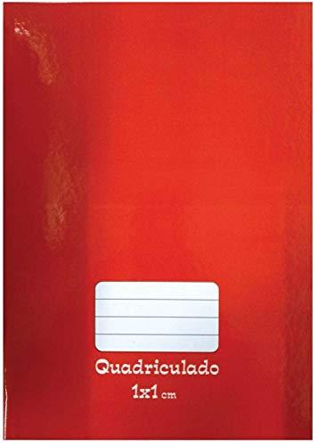 Caderno Quadriculado Universitário 1x1cm, Pacote com 5 Cadernos, Capas Sortidas, Tamoio