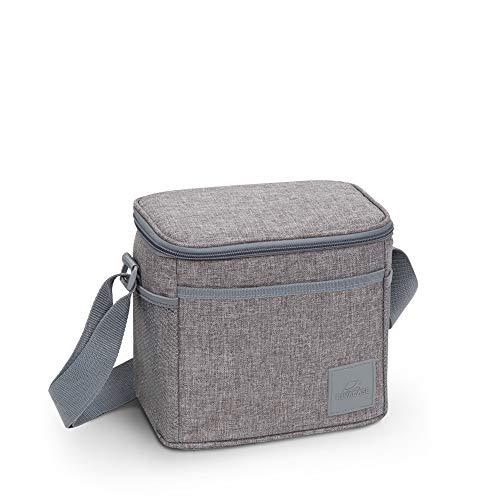 RIVACASE Kühltasche Faltbar - Faltbare Isoliertasche Einkauf - Picknicktasche Klein Kühltasche - Lunch Cooler Bag - Thermotasche für Speisen und Getränke Picknick 5 L