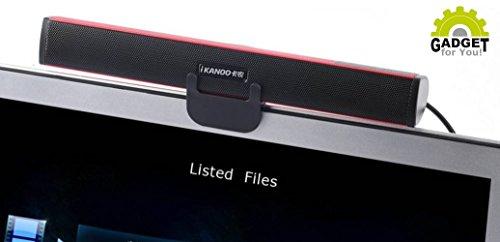 Original Ikanoo N12 USB Soundbar + GRATIS Halterung & Standfuß (Für Computer, PC, Laptop,...