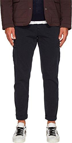 Eleventy Slim Fit Stretch Cotton Cargo Pants Navy 34