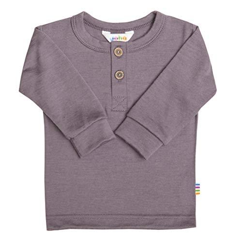 Joha Baby Kinder Mädchen Langarmshirt aus Merino-Wolle, Größe:56-62, Farbe:Pflaume