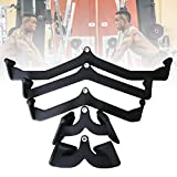 HNWTKJ Adjustable Rowing Handle Set for Gym Cable Machine, Cable Machine Pull Down Attachment Power Grip Lat Pull Down Bar Attachments for Tricep Biceps Back Shoulders