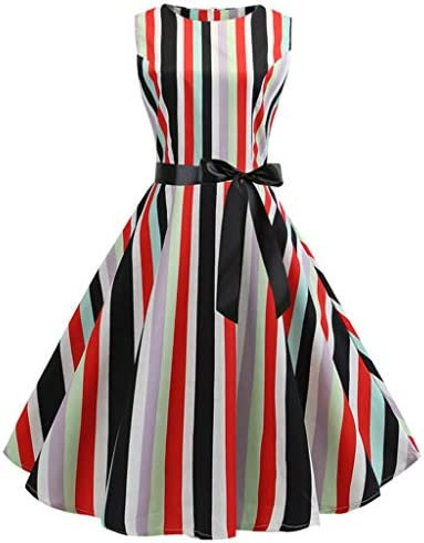Women Vintage Polka Dot Retro Cocktail Prom Dresses 50 s 60 s Rockabilly Multicolor3 L product image