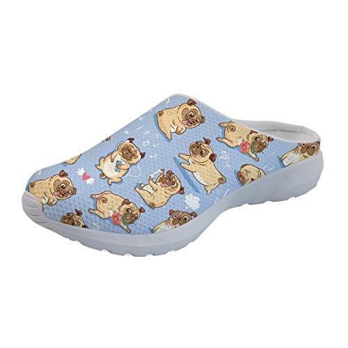 Showudesigns Zapatos de malla informales para mujer, con estampado de animales, para mujer, color Morado, talla 39 EU