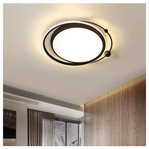 VIVITG LED Lámpara de Techo, por Cuarto Moderno Redondo Cocina Comedor Candelabros Creativo Negro Encendiendo Accesorios, [Clase energética A ++],Tricolor dimming