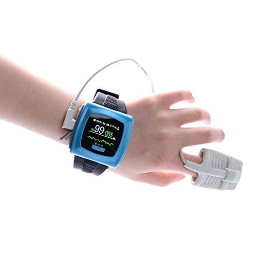 Wearable Oximeter Zuurstofgehalte in Het Bloed, Hartslag, Doorbloeding Index Monitor Met Oplaadbare, Verstelbare Vibration Alarm, Data-Opslag En Transmissie