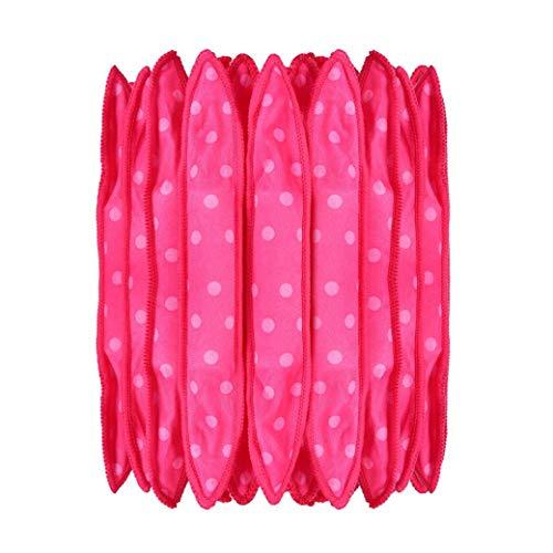 30pcs Mousse Bigoudis Rouleaux Coussin éponge Bigoudi Souple Et Flexible Bricolage Cheveux Styling Outils De Rouleaux Pour Mi-Long Cheveux Courts Rose Rouge