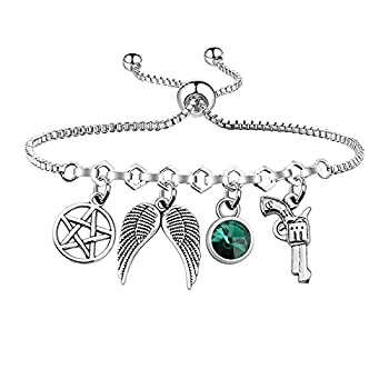 UJIMS Supernatural Inspired Gift Supernatural Charm Bracelet Supernatural Fans Gift for Women Man TV Movies Show Original Jewelry  Supernatural Charm Bracelet