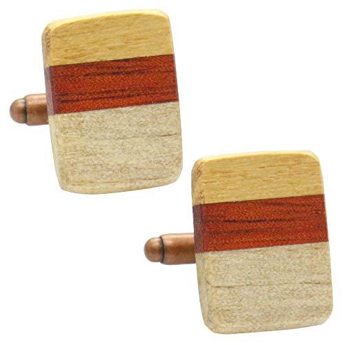 合わせ木 オリジナル 手作り木工 カフス カフスボタン カフリンクス 111
