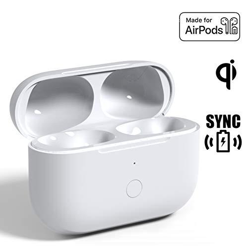 Reemplazo de la Caja de Carga inalámbrica de actualización Compatible con AirPods Pro, Estuche de Carga para Air Pod Pro Auriculares con Botón de Sincronización de Emparejamiento Bluetooth