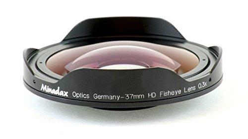 Minadax 0.3X Ultra Fisheye Konverter Fuer Sony DCR-HC40, DCR-HC42, DCR-HC44, DCR-HC46, DCR-PC106, DCR-PC107, DCR-PC109, DCR-DVD91, DCR-DVD101, DCR-DVD105, DCR-DVD201, DCR-DVD205