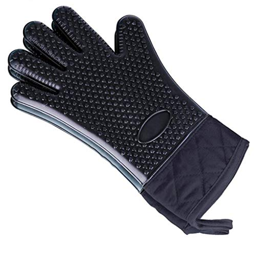 Preisvergleich Produktbild Silicone Gloves,  Five-finger Gloves,  Heart-shaped Anti-slip,  Microwave,  Anti-scalding,  Heat-resistant (Farbe : C,  größe : 2 pack)