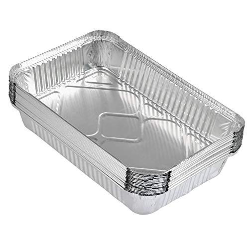 20 Piezas Desechables Bandeja de Aluminio Bandejas De Papel Aluminio Para Hornear...
