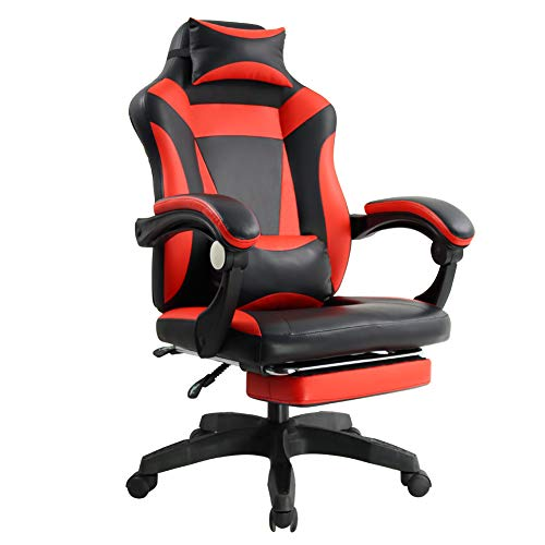 KKTONER Ergonomic Gaming Chair for E-Sport Racing Computer Swivel Height Adjustable with Armrest High Back Headrest and Lumbar Support (red) chair gaming red