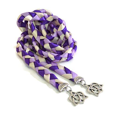 Divinity Braid v4 Purple Lilac Celtic Heart Knot Wedding Handfasting Cord #Handfasting #Celtic #CelticHandfasting #Wedding #WeddingHandfasting