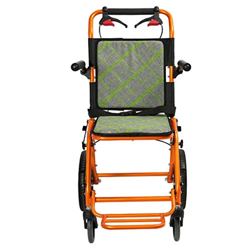 Walker Chair Wheelchair Silla de ruedas plegable ultraligera for niños, dispositivo de movilidad plegable for transporte interior apretado y fácil almacenamiento, carro de silla de ruedas autopropulsa