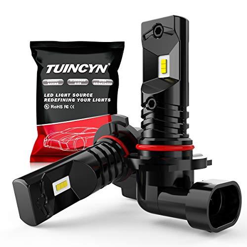 TUINCYN H10 9140 9145 Ampoules antibrouillard à LED 6500K 1600LM Blanc CSP Puces DRL Feux de Jour Feux de Brouillard de Rechange Lampe 80W Haute Puissance 12V-24V DC (Pack de 2)