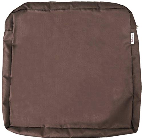 QQbed 6 Pack Outdoor Patio Chair Washable Cushion Pillow Seat Covers 20'X18'X4' Size - Replacement Covers Only (20'X18'X4' 6 Pack, Brown)